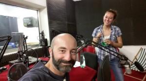 Pierre Psaltis et Mélanie Masson (avant émission)