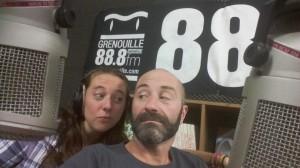 Pierre Psaltis et Mélanie Masson (après émission)