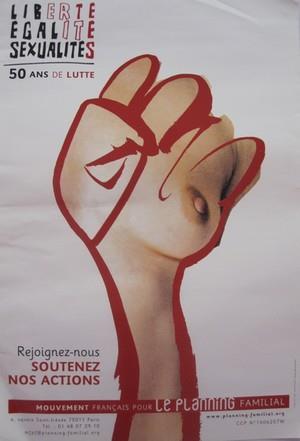 Affiche réalisée à l'occasion des 50 ans du Planning Familial (2006) - MFPF