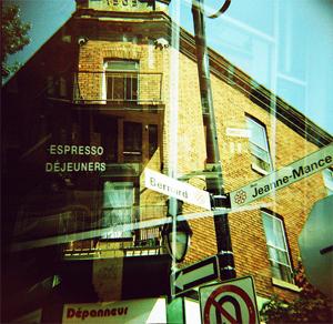 Quartier du Mile End à Montréal. Lomography by Mathias Duguet.