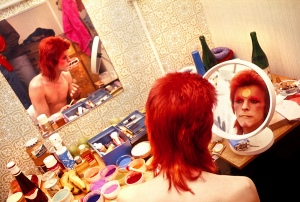Mick Rock - Bowie, Makeup, Circle Mirror - 1973